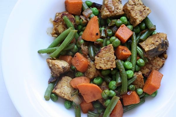 Sweet Potato Tempeh Recipe + Vega Berry Health Optimizer