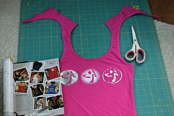 Cut Zumba Tank Top Tutorial Deep V Neck Front Lines