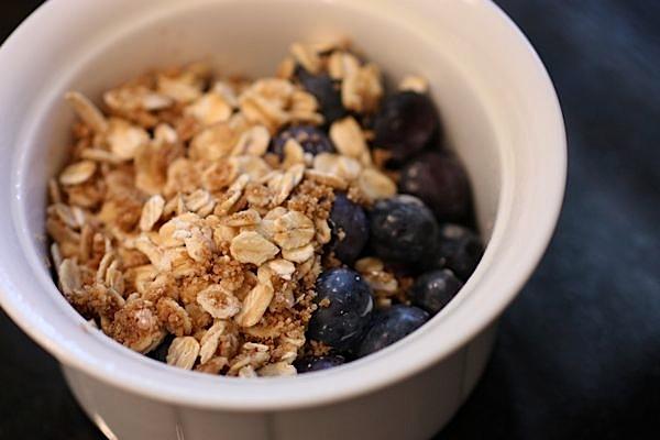 Individual Breakfast Berry Crisp