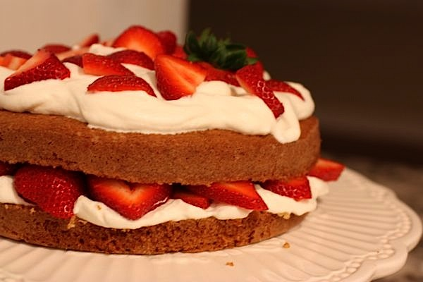Ina's Strawberry Country Cake + Chicken with Boursin Cream Sauce
