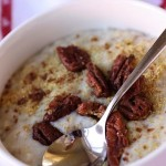 Candied Pecan Topped Oatmeal