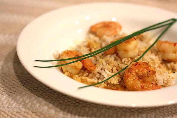 Shrimp in Saffron Broth Recipe