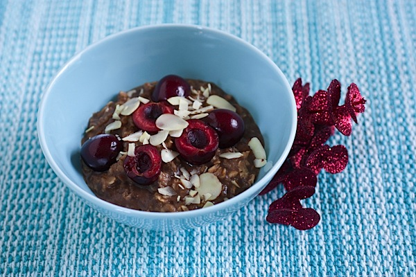 Carob Cherry Oatmeal + Busy Signs