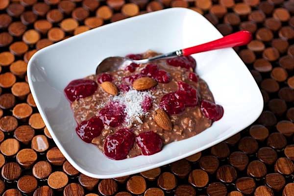 Berries + Chocolate Oatmeal