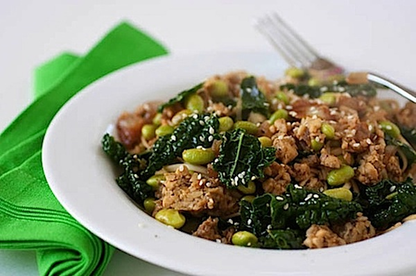 Tangy Tamari Tempeh Noodles Recipe