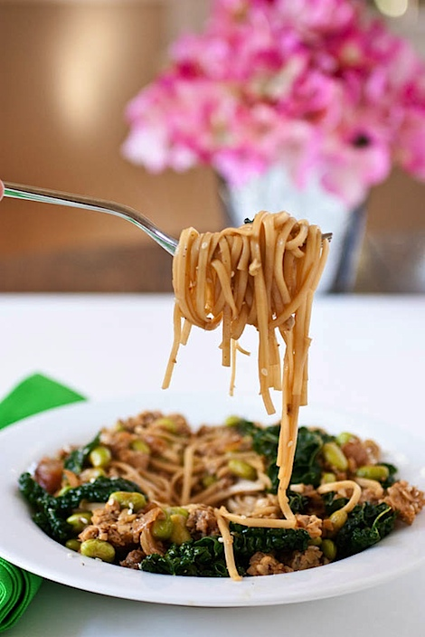 Noodles can be both delicious and healthy! Try this easy Tangy Tamari and Tempeh Noodles recipe for a simple dinner idea that is naturally vegan. This clean eating recipe whips up quickly so you can enjoy dinner fast! #recipe #healthy #healthyrecipes #cleaneating #realfood #vegan #vegetarian #dinner