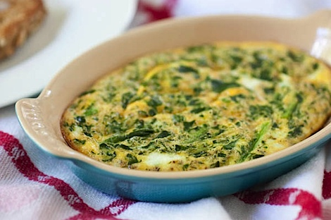 Individual Spinach Cheddar Egg Bake Recipe