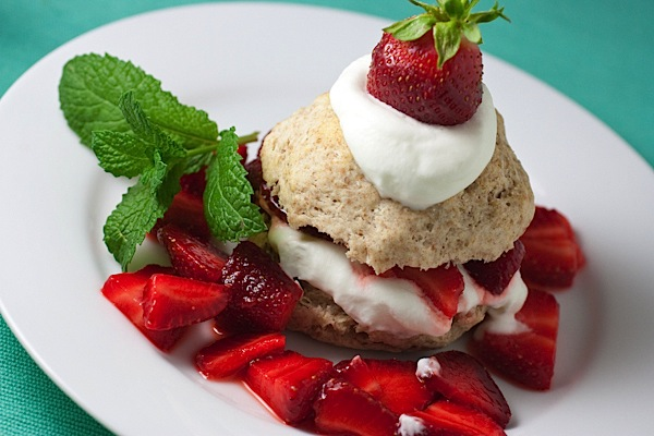 Farm Fresh Strawberry Shortcake with Amaretto-Spiked Whipped Cream