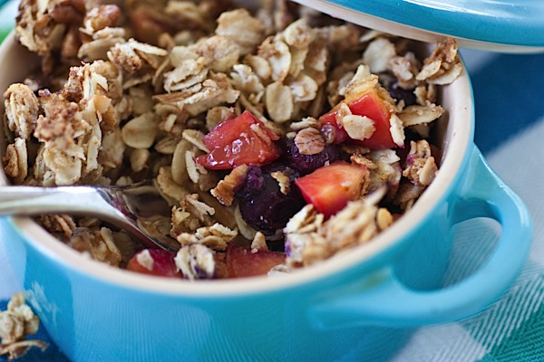 Peach Blueberry Individual Breakfast Crisp Recipe