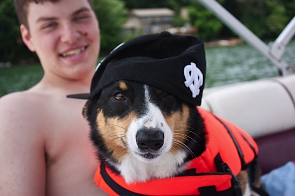 Bailey's First Boat Outing