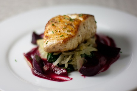 Grouper with Beet Emulsion Recreation