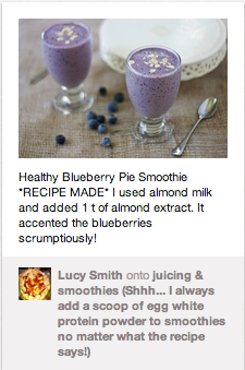 Healthy Blueberry Pie Smoothie Recipe Pin