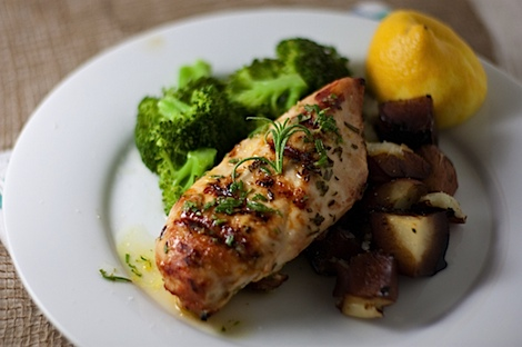 Quick Rosemary Lemon Grilled Chicken Recipe (Only 3 Ingredients!)