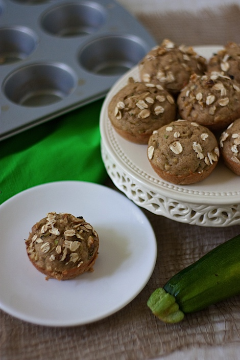 Healthy Oatlicious Zucchini Bread and Muffins