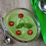 End of Summer Chilled Cucumber Tomato Soup