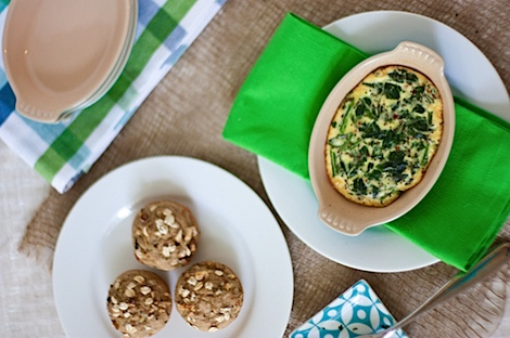 Individual Italian Spinach Parmesan Egg Bake Recipe