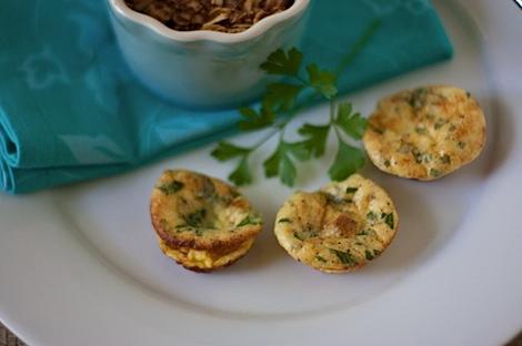 Parmesan Parsley Mini Frittatas Recipe