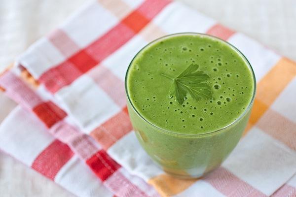 Tropical {Vitamin} C Blast Green Monster Smoothie