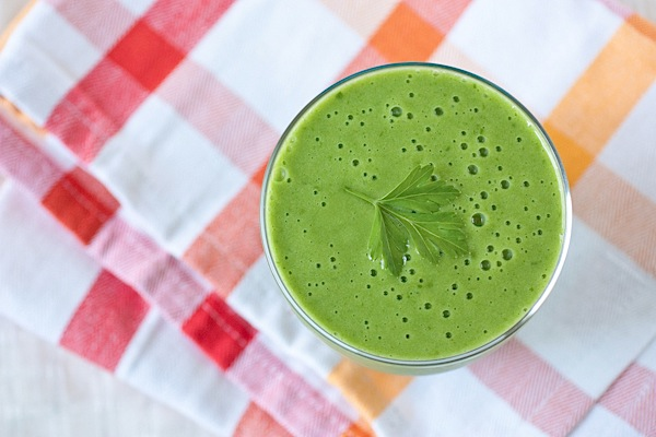 Tropical {Vitamin} C Blast Green Monster Smoothie