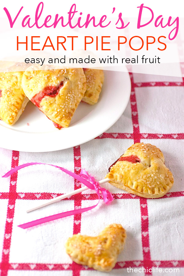 So easy and so cute! Your sweetie will love these Heart Shaped Strawberry Pie Pops. No pop sticks? No problem! They're still adorable served plated. This dessert recipe is a fun Valentine's Day treat! #recipe #realfood #vegetarian #desserts #dessertrecipes #valentinesdayfood #valentinesday