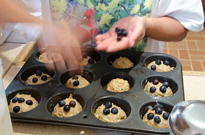 Healthy Blueberry Zucchini Muffins/Bread Recipe