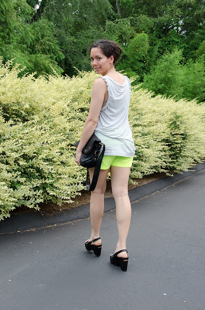 Neon Shorts {Outfit}