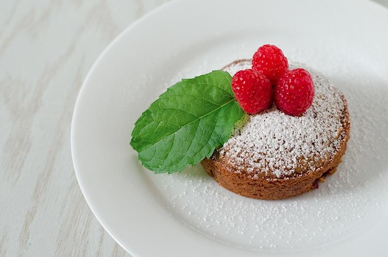 Raspberry Olive Oil Cake Minis {Recipe}