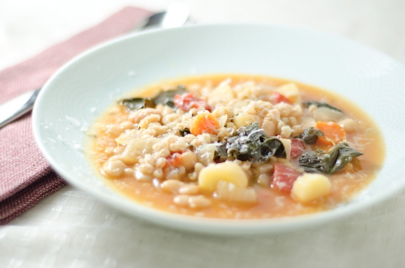 ... farro kale and turmeric recipes dishmaps chicken soup with farro kale