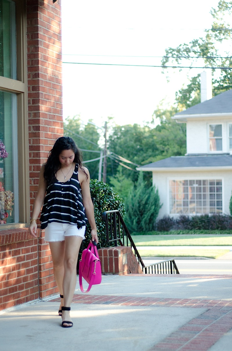 Stripes & Cut-Offs {Outfit}