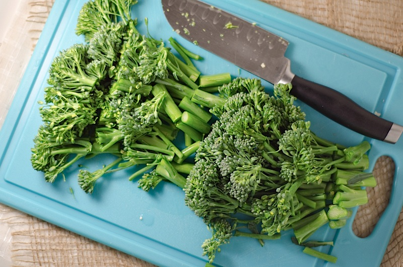 Asian Quinoa with Shrimp & Broccolini {Recipe}