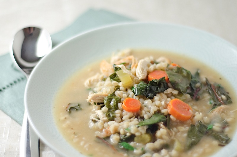Chicken, Barley, & Swiss Chard Soup {Recipe} - The Chic Life