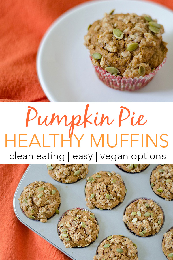 Ditch overly sugary store bought muffins and make this delicious, healthy, clean eating Pumpkin Pie Muffins recipe. Great for breakfast, snacks, or even dessert #recipe #healthy #healthyrecipes #cleaneating #recipe #realfood #vegan #vegetarian