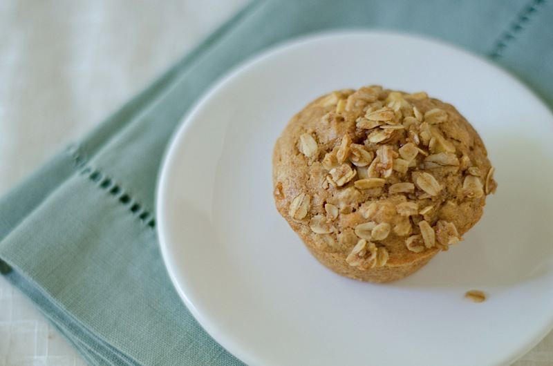 Apple Oatmeal Muffins with Sweet Oatmeal Topping Recipe