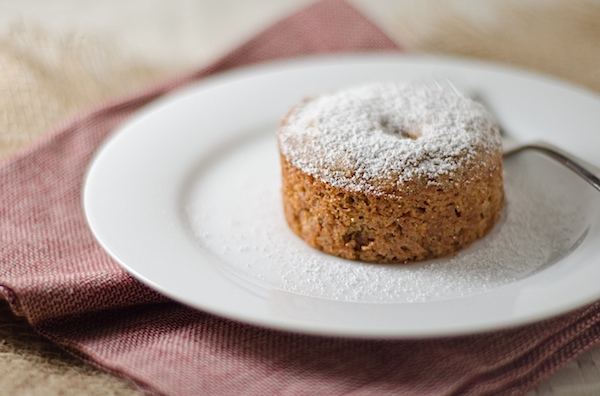 Portion control is built right into this easy Spiced Pecan Mini Cakes recipe. This delicious fall recipe makes two individual cakes, and they come together nice and easy. Cozy up with this healthy dessert recipe. #cake #fallfood #fall #fallrecipe #recipe #healthy #healthyrecipes #healthyfood #cleaneating #recipe #realfood #vegan #veganrecipe