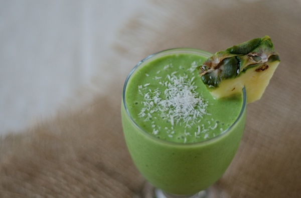 Piña Colada Green Monster Smoothie Recipe - The Chic Life