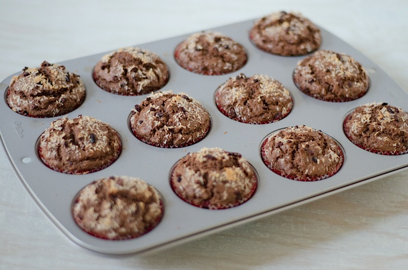 Chocolate Coconut Cacao Muffins Recipe - The Chic Life