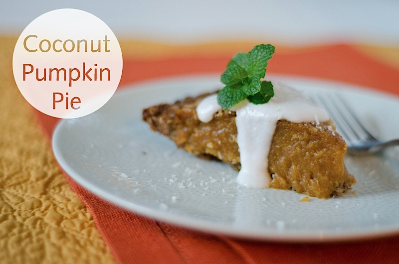 Coconut Pumpkin Pie with Creamy Coconut Sauce Recipe