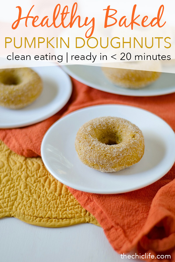 So good, bet you can't eat just one! This Healthier Baked Pumpkin Doughnuts Recipe is a great clean eating recipe if you're looking for delicious fall recipes for you or your family. Made with real pumpkin, this easy recipe whips up in less than 20 minutes. Great for a holiday or Thanksgiving themed potluck or party. Good use of leftover canned pumpkin. #recipe #doughnutrecipe #healthyrecipe #cleaneating #holidayrecipe
