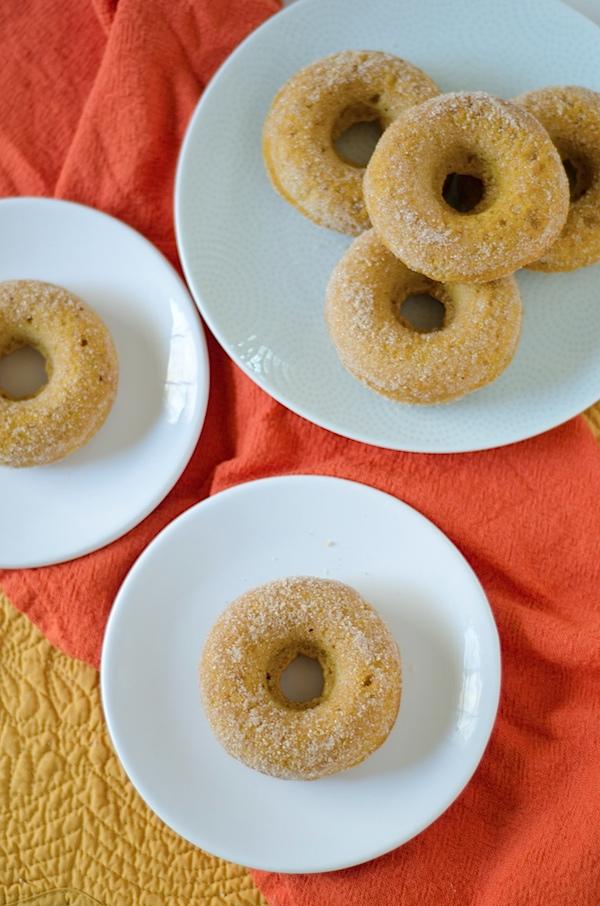 Healthier Baked Pumpkin Doughnuts Recipe - so good!