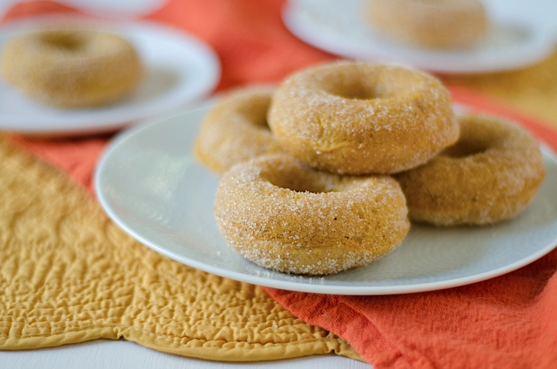 Healthier Baked Pumpkin Doughnuts Recipe - The Chic Life