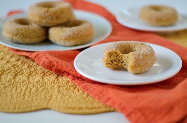 Healthier Baked Pumpkin Doughnuts Recipe - so good!