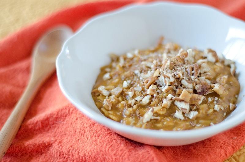 pumpkin microwave oatmeal