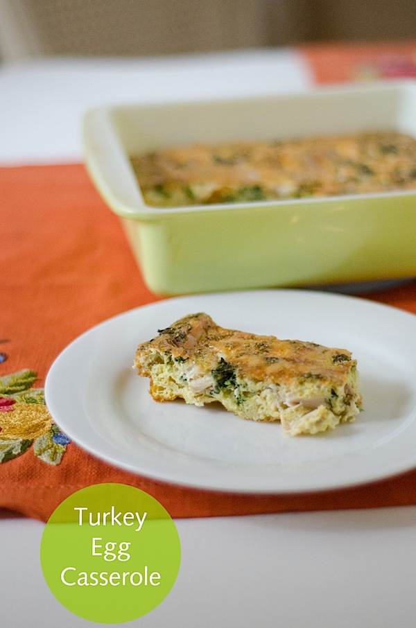 Turkey Egg Breakfast Casserole - a simple and tasty Thanksgiving Leftover Recipe