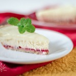 Cranberry White Chocolate Cheesecake (Using Leftover Cranberry Sauce) {Recipe}