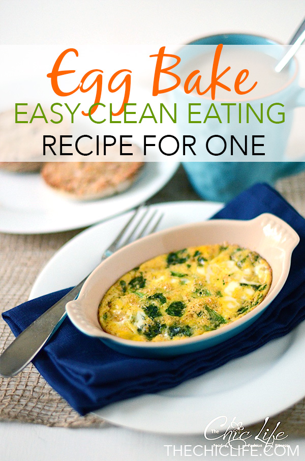 Don't waste your time standing over the stove when this delicious Spiced Egg Bake Recipe can cook away while you get ready for the day. Single-serving-sized. This clean eating recipe is an easy breakfast. #recipe #healthy #healthyrecipes #healthyfood #cleaneating #realfood #vegetarian