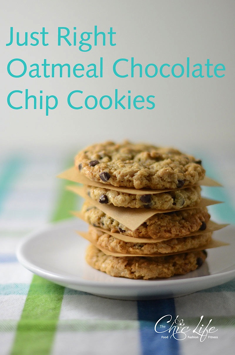 right oatmeal chocolate chip cookie a little chewy a little soft and a ...
