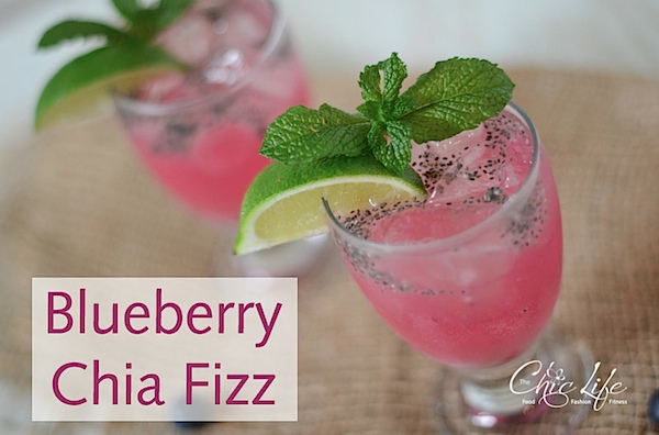 Refreshing Blueberry Chia Fizz Drink Recipe