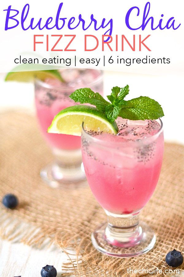 Who says soda can't be healthy?! Try this clean eating bubbly drink made with real food ingredients, including superfood chia seeds. This healthy drink is perfect for a hot summer day or cook out. #recipe #healthy #healthyrecipes #cleaneating #vegan #vegetarian #drinks