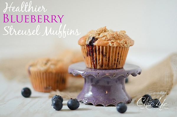 Healthier Blueberry Streusel Muffins Recipe
