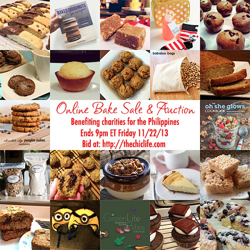 Closing in 2 Hours – The Online Auction and Bake Sale for the Philippines!